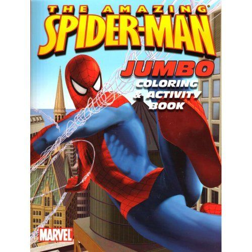 Book Cover Art Activity : The amazing spider man jumbo coloring activity book