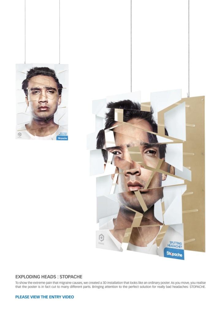 Campaign: Explosive Pain: Exploding Amar / Advertiser: Paras Pharma / Agency: Y Dubai / Country: UAE / Creative Director: Shahir Zag & Kalpesh Patankar / Art Director: Kalpesh Patankar / Copywritter: Shahir Zag / Award: Instore Posters & Displays Sapphire