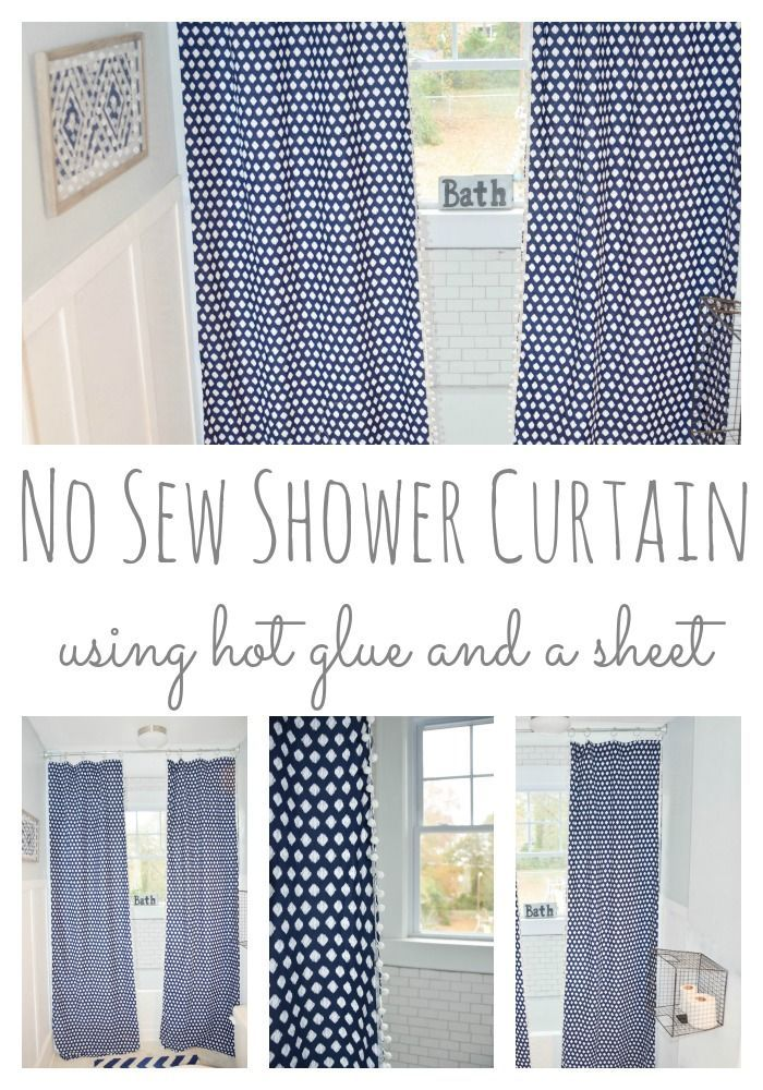 Diy Shower Curtain From A Twin Sheet Restless Arrow Diy Shower Curtain Diy Shower Shower Curtain