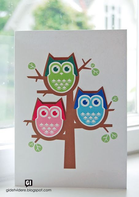 Owl greeting card with removable owl bookmarks! Free printable templates at the link. (I may never buy another birthday card again; this is too perfect!)