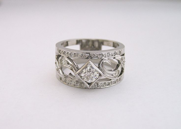 Not every #Engagement #ring has to look the same. #unique #design #diamond #ring with #handmade features.