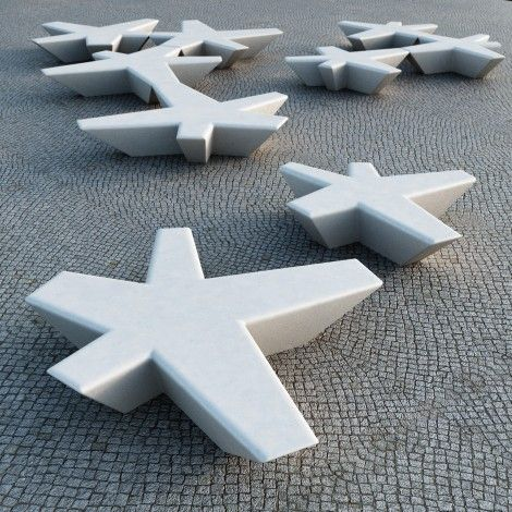 Flor Concrete Benches by Escofet