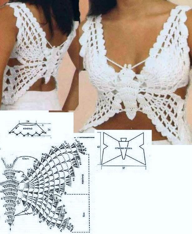 Crochet Butterfly Tank