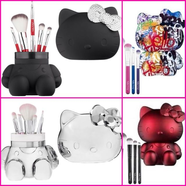 Hello Kitty makeup brushes & storage container from Sephora