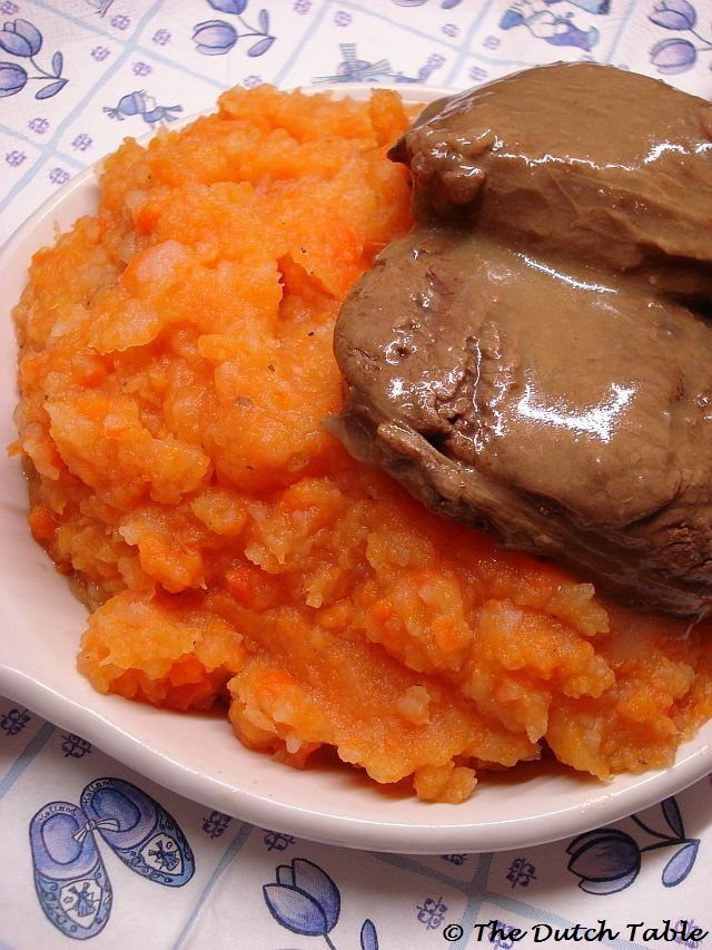 S 26, L 9. The Dutch Table: Hutspot met klapstuk (Dutch carrot mashed potatoes with braised beef)