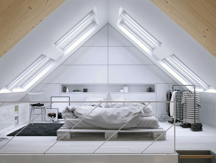 Loft bedroom | VIZN Studio