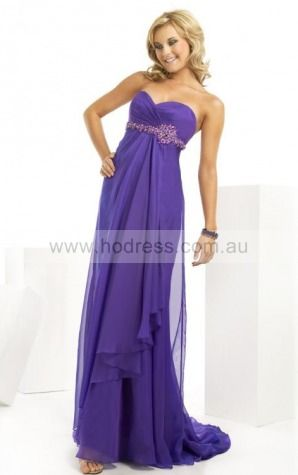 Sleeveless Zipper Sweetheart Floor-length Chiffon Formal Dresses dt00331--Hodress