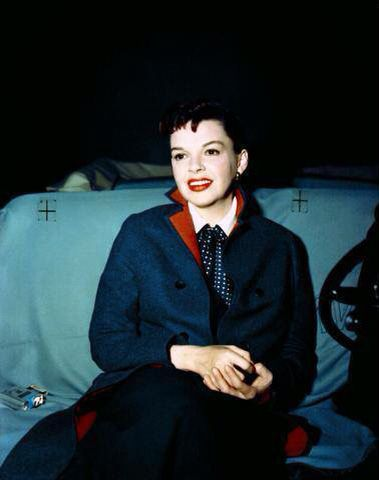 Judy Garland filming the car scene in A Star is Born