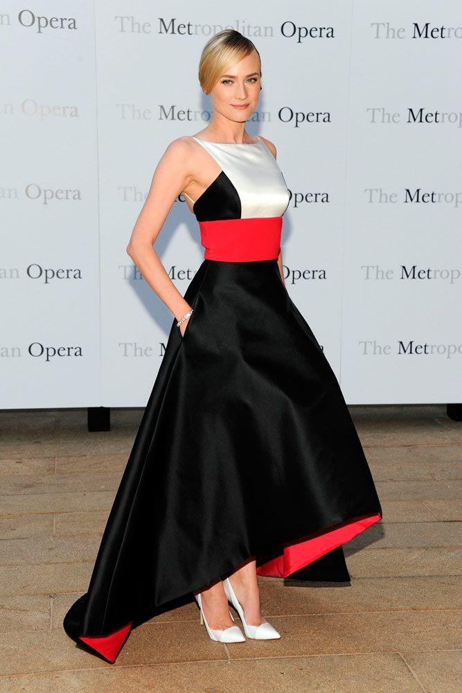 7 trends para brillar en una noche de gala DE LARGO A CORTO. Diane Kruger