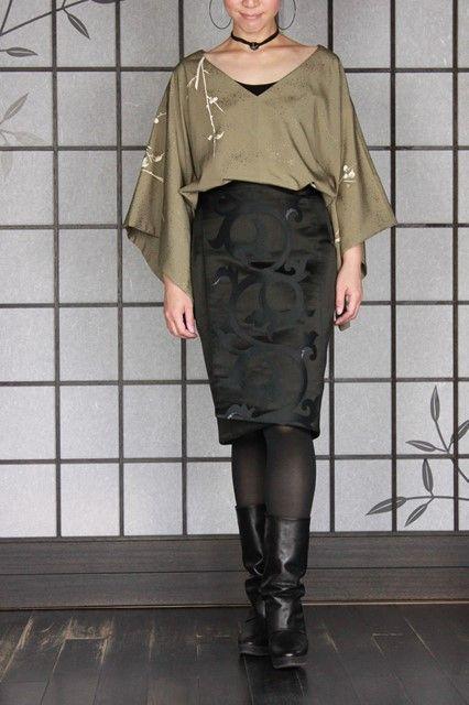 画像2: ラップオーバースカート