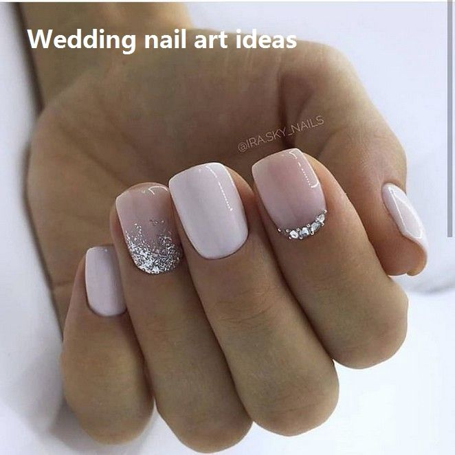 35 Simple Ideas For Wedding Nails Design Nailideas Luxury Nails Glitter Gel Nail Designs Glitter Gel Nails