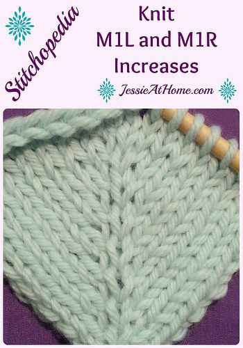 Knitting Help Increases : Stitchopedia m r l right and left leaning knit