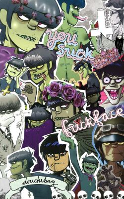 collage I made this gorillaz murdoc murdoc niccals there you go! what a pile of…