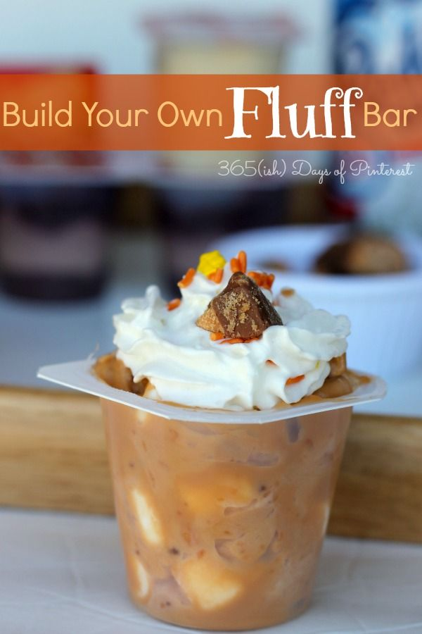 Make an easy dessert bar for your Halloween party using Snack Pack pudding cups and some tasty mix-ins!