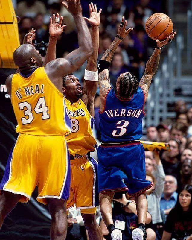 |Shaq & Kobe vs Allen Iverson| - 2001 NBA Finals #shaq #kobe #ai #nba #finals #2000s #lakers #sixers