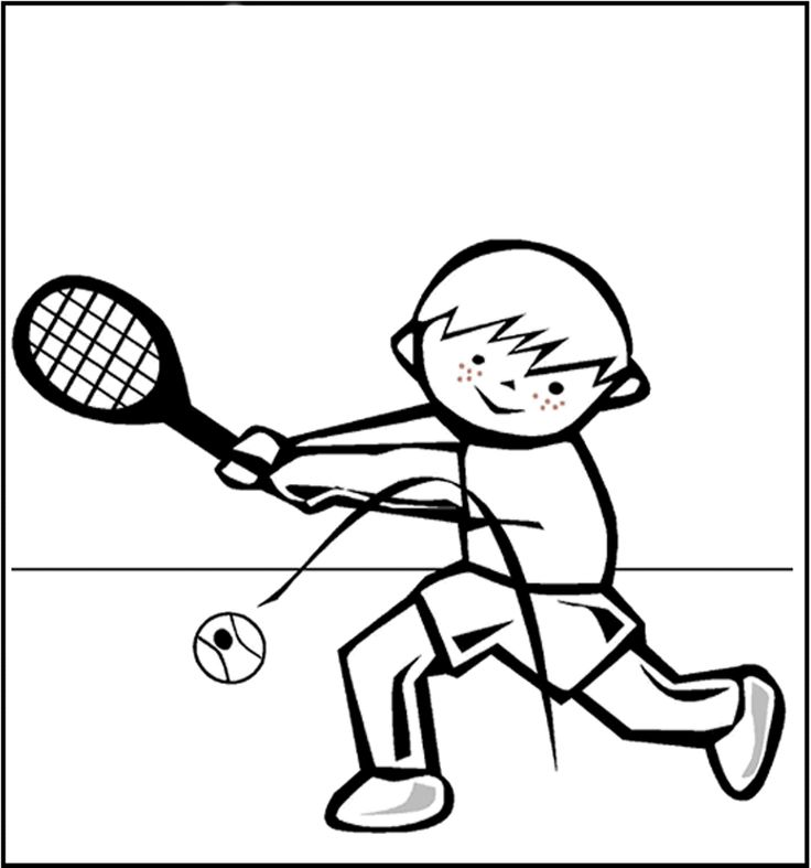 tennis coloring book pages - photo#17