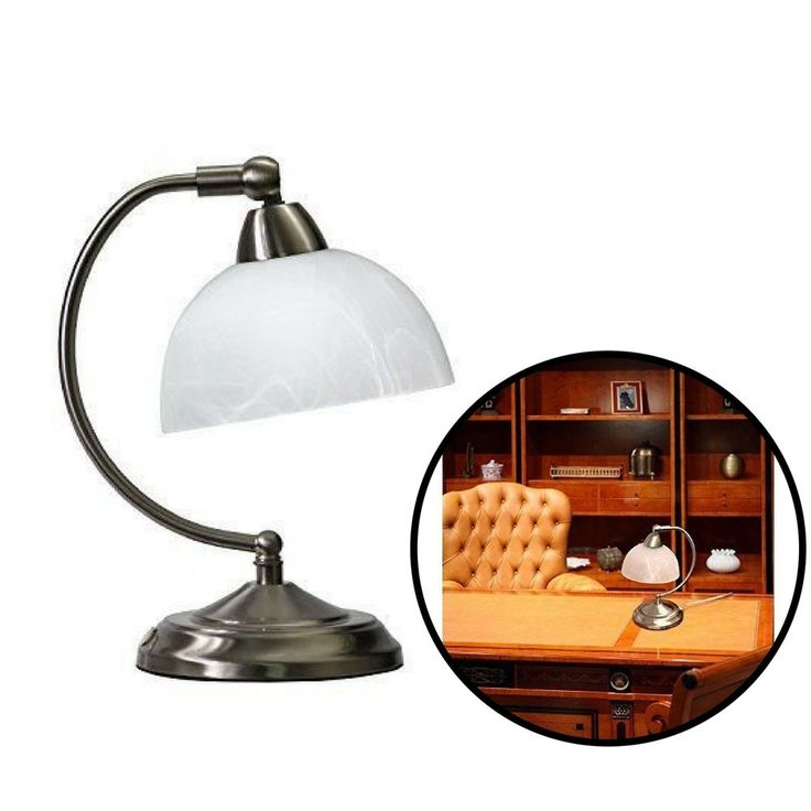 Modern Desk Lamp Brushed Nickel Home Office Light Touch Control Base Mini Lamp  #Unbranded #Modern