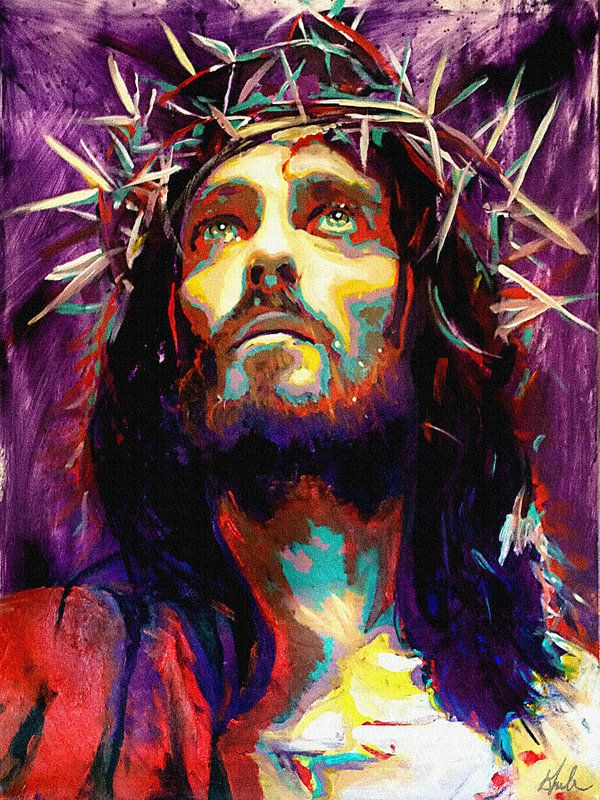 Crowning With Thorns Print featuring the painting King Of Kings by Steve Gamba