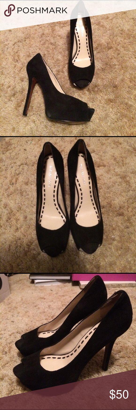 Peep-toe black suede platform pumps ◾️Peep-toe black suede platform pumps ✖️8.5 Shoes