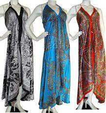 Modelos de Vestidos Indianos Curtos e Longos da Moda