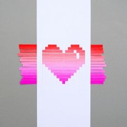 Learn how to make a woven heart card (comes with templates)