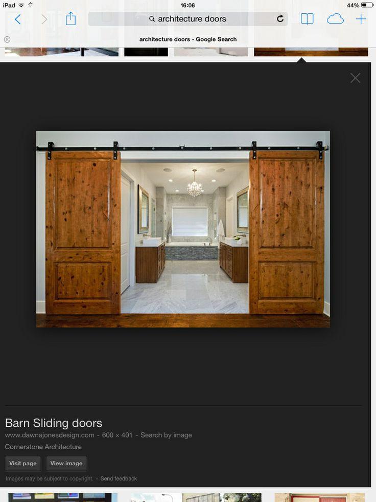 49 best images about sliding doors on pinterest sliding for Farmhouse sliding door