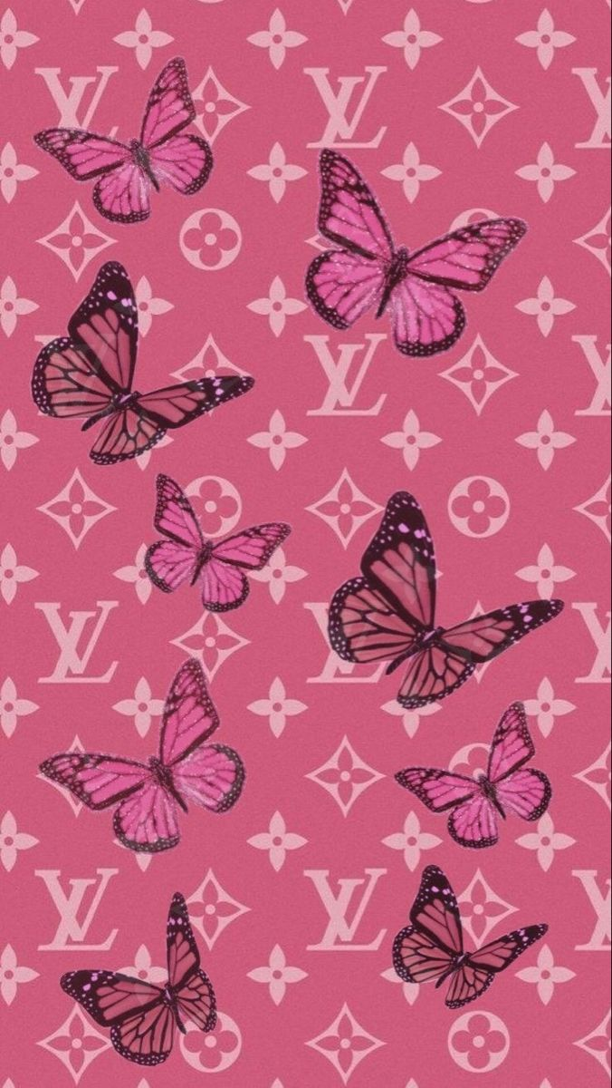 Lv Wallpaper In 2020 Butterfly Wallpaper Iphone Art Collage Wall Iphone Wallpaper Tumblr Aesthetic