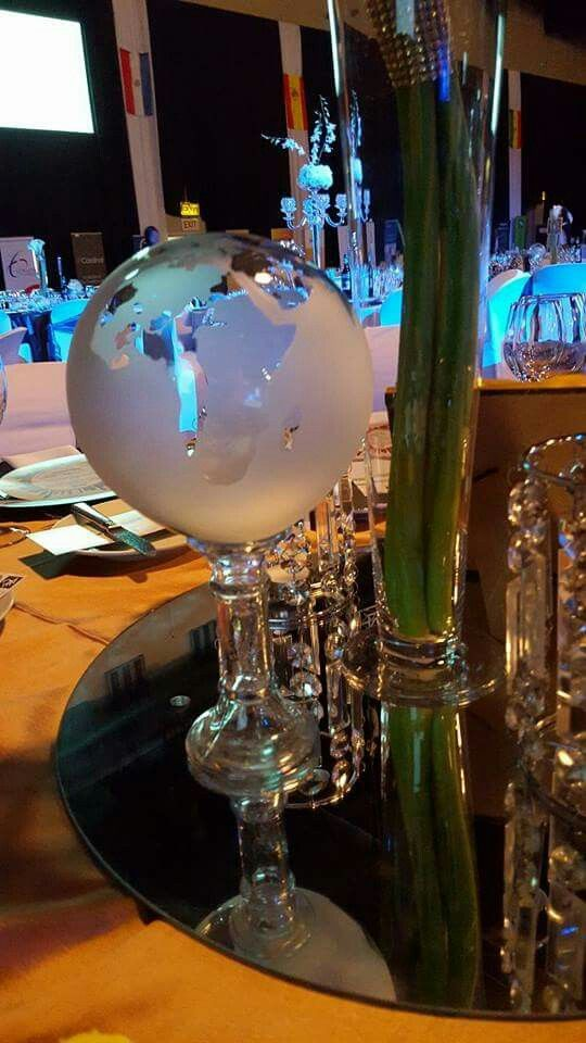Glass  globes - Corporate function  at Sandton convention centre