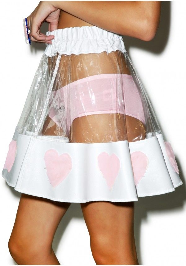 pink heart skirt