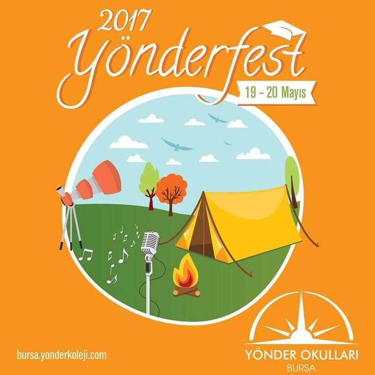 19-20 Mayıs 2017 YÖNDERFEST'e hazır mısınız? Bu yıl üçüncüsü gerçekleşecek olan, Bursa Hasanağa Köyünde İki gün boyunca sürecek festivalde çadır kampı ile beraber her yaş grubu için sanat atölyeleri, yarışmalar, turnuvalar, konserler, film gösterimleri gerçekleşecek. Bizimle beraber doyasıya eğlenmek isteyen herkes davetlidir. YönderFest'e kimler geliyor? #yönderfest #yönderfest2017 #bursayönderokulları #üçevlerkampüsümüzaçılıyor #eğitim #yönderkayıt…