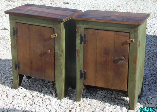 matching primitive country cupboards