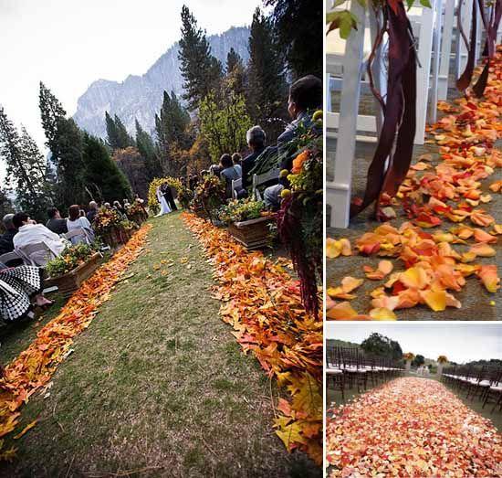 13 bogengang hochzeit deko traualtar dekoration herbstblaetter idee Hochzeit mit Herbstblättern– Hochzeit Idee