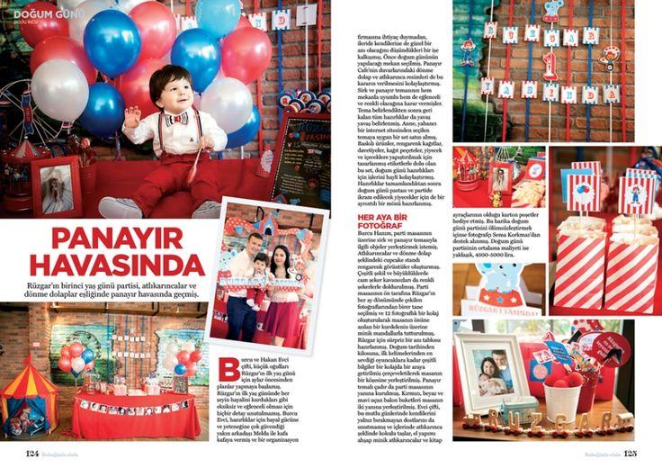 """Rüzgar'ın 1. yaş günü partisi, """"Bebeğimle Elele"""" Dergisi'nde yayınlandı."""