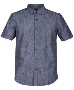 Hurley Men's Cotton Shirt - Black 2XL