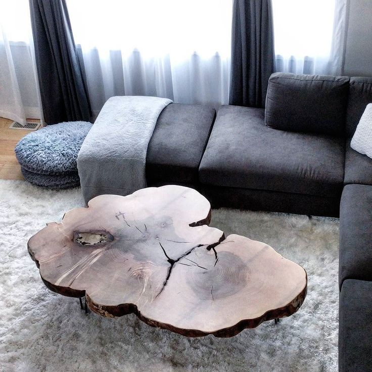 Giant maple cookie coffee table we delivered yesterday - this thing is much bigger (and heavier!) than it looks in the picture.  It is almost four inches thick.  We did a satin clear coat on it and mounted it on our hairpin legs.  The clients had the perfect space for it with a large L shaped sofa and nice fluffy cloud like rug.  #liveedge #coffeeetable  #barnboard #barnwood #barn #reclaimed #reclaimedwood #rustic #rusticwood #igers #toronto #hamilton #hamont #tdot #the6ix #durhamregion…