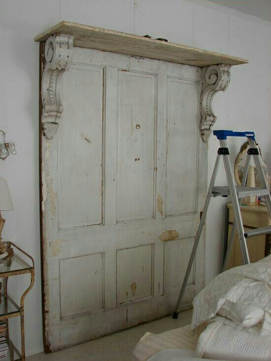 Love this headboard idea from old doors