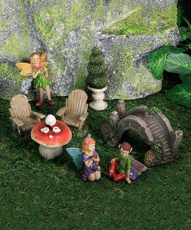 Look at this #zulilyfind! Pixie Garden Figurines - Set of Eight #zulilyfinds