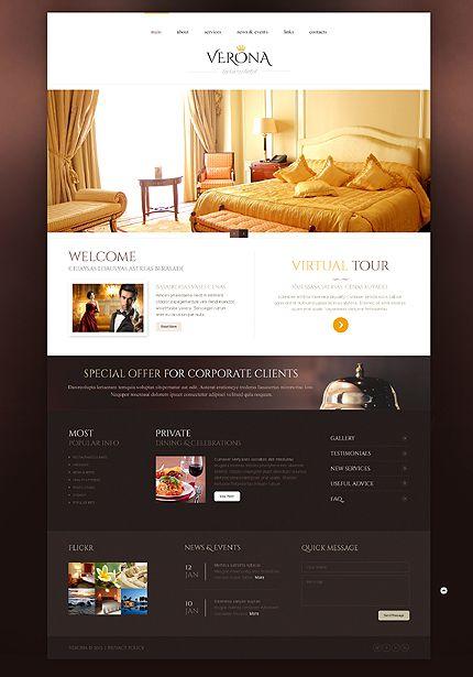 Template 44316 Verona Hotel Website