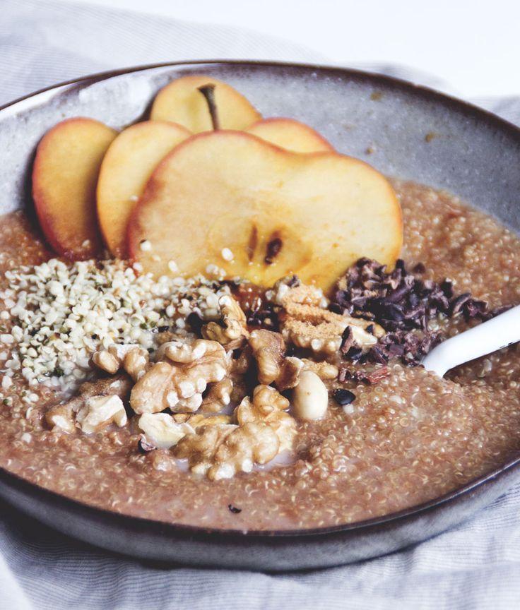 Apfel-Zimt Quinoa Frühstück   www.juyogi.com