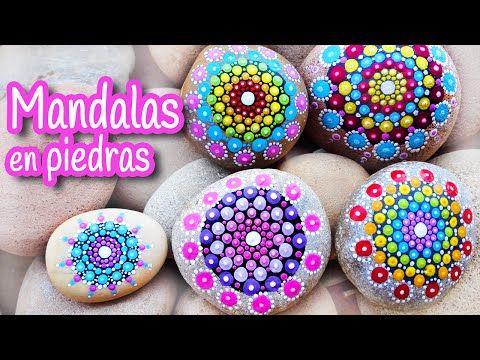 Aprende Como Hacer Las Piedras Mandalas Que Están Dando La Vuelta Al Mundo ¡Son Preciosas!