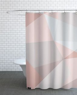 Rosa Kristalle - XOXO Arte - Duschvorhang