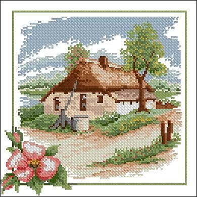 "Free cross-stitch pattern ""Spring"" 