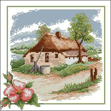 "Free cross-stitch pattern ""Spring""   Cross-Stitch Club"