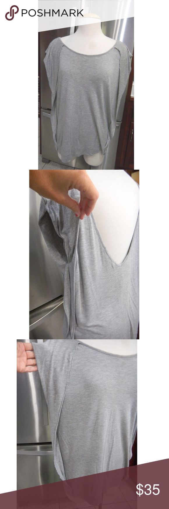 Allsaints grey Jules top sz us6 V back. Pls noted there is a hole on the back All Saints Tops