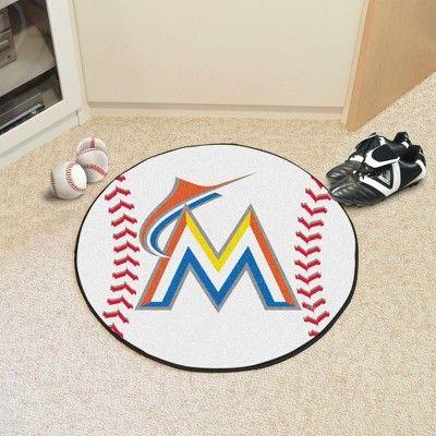 MLB Miami Marlins Baseball Mat 27 Diameter