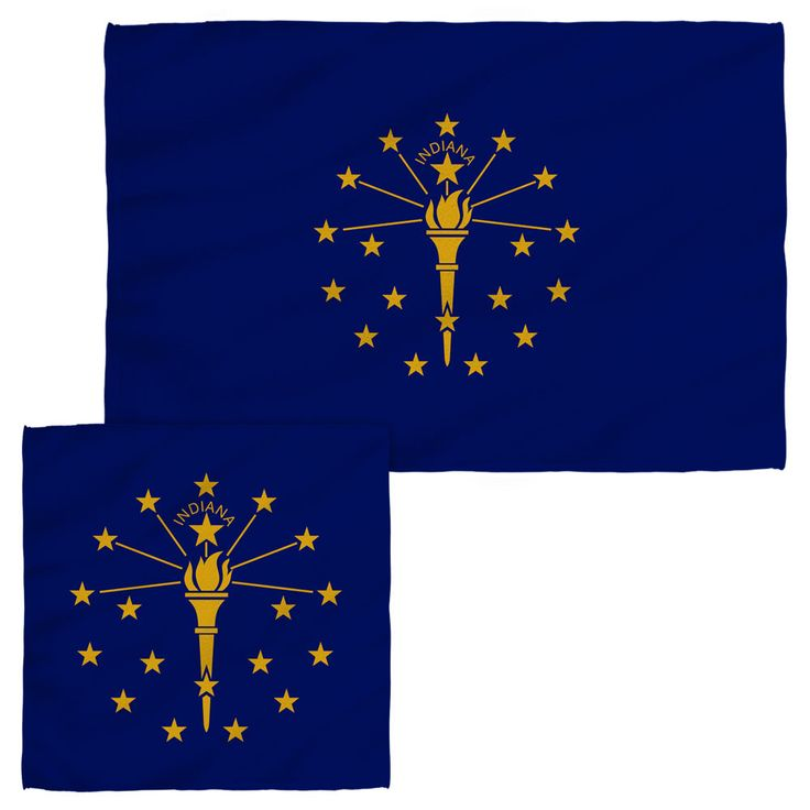 Indiana Flag Face and Hand Towels