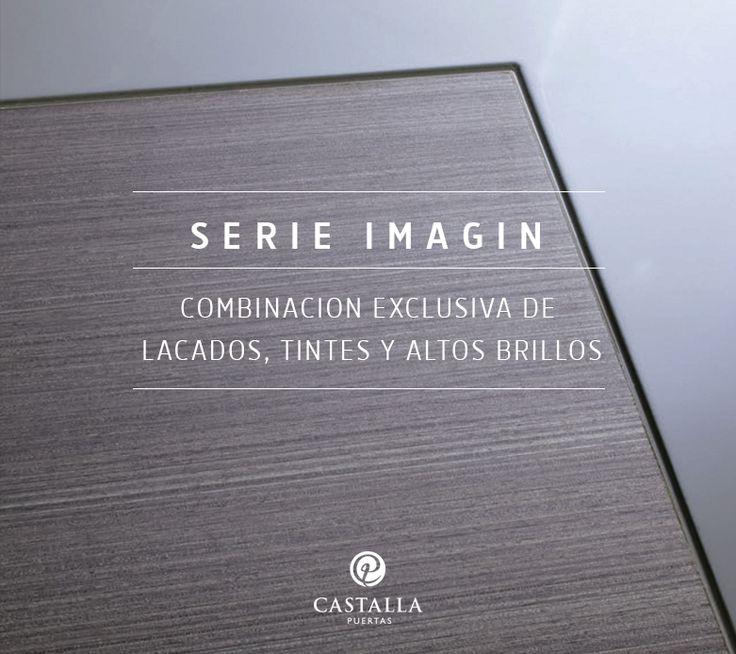 Puertas de Interior Serie Imagin de Puertas Castalla   Combinación exclusiva de acabados, tintes y altos brillos
