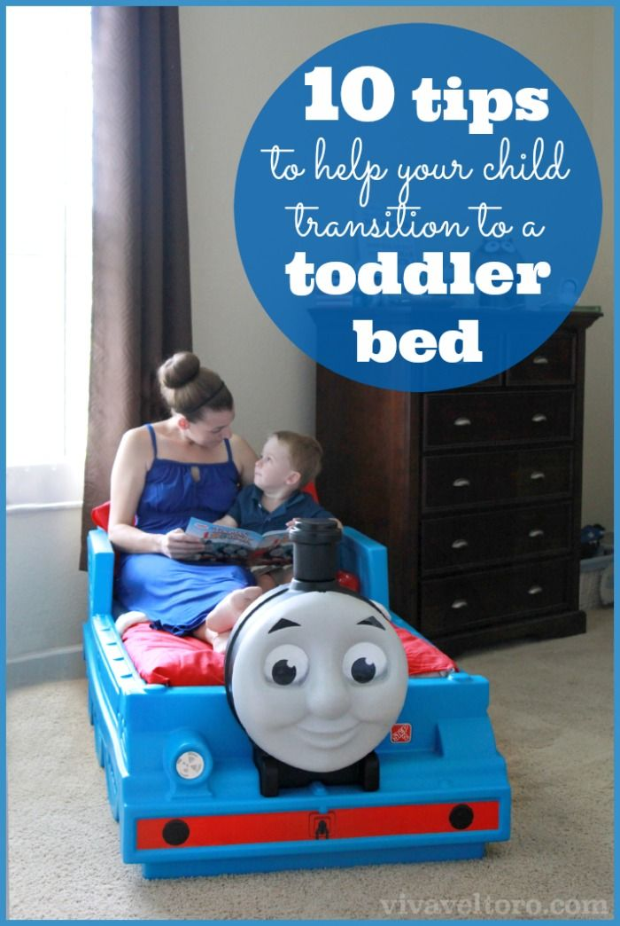 10 tips to help your child transition to a toddler bed.  Number 10 is so important!