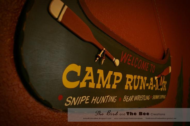 Boys Camping Room Decor | Little Cabin Boys Bedroom Decor Camp RunAMuk by thebirdandbee