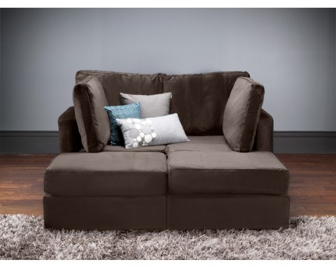 Saw this at the store set up so that the halves were facing each other, making the loveseat into a cozy little world for two. Sigh... So not family-friendly, but very, very, very friendly... ;)